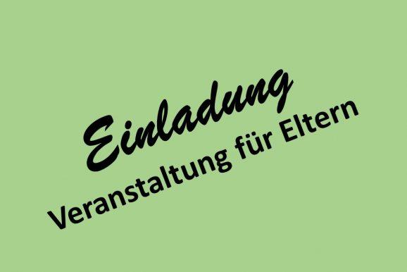 Einladung und Anmeldung: Übergang Schule Beruf - Berufsausbildung heute und morgen