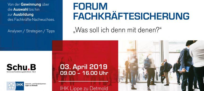 Forum Fachkräftesicherung am 3. April 2019