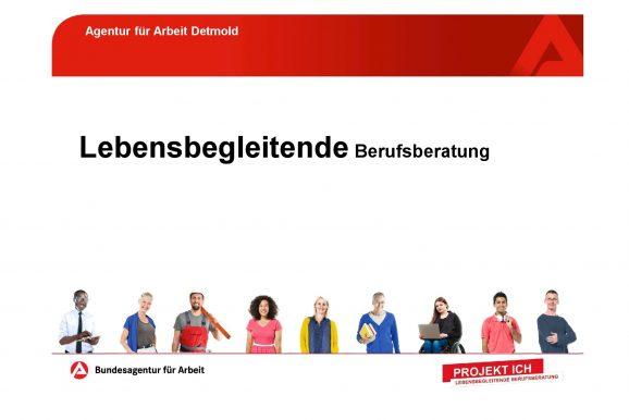 Infos zur Lebensbegleitenden Berufsberatung der Agentur für Arbeit
