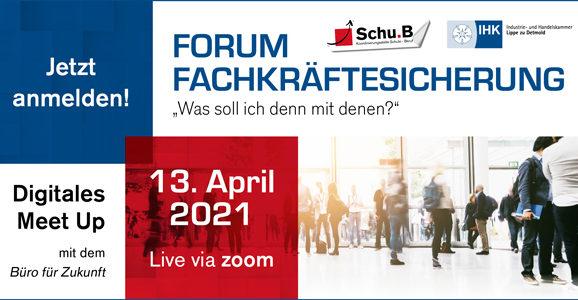 """Digitales Meet Up am 13. April 2021 zum Thema: """"Jugendliche treffen – Berufsfelderkundungstage nutzen"""""""